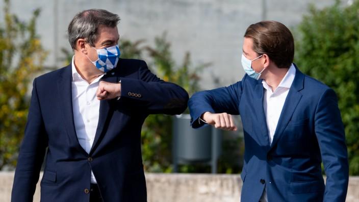 Ministerpräsident Söder trifft Bundeskanzler Kurz