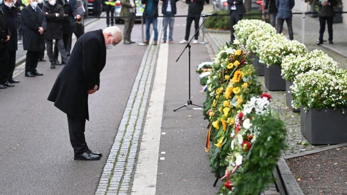 Halle Anschlag Steinmeier Gedenken