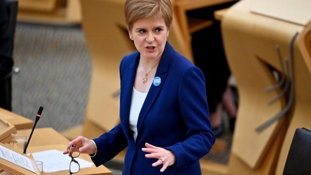 Scottish FM Sturgeon takes questions in Edinburgh