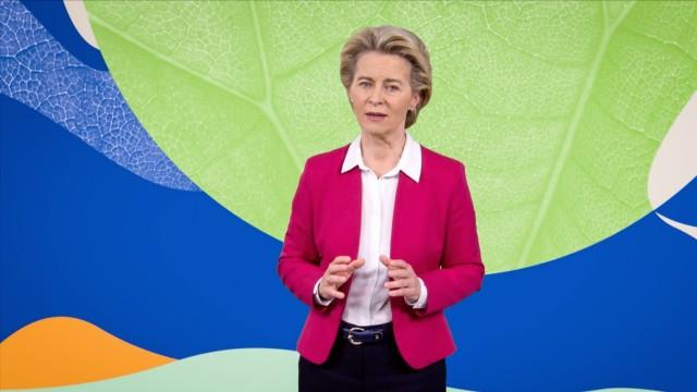 Ursula von der Leyen speaks at the Countdown Global Launch 2020. October 10, 2020. Photo courtesy of TED.