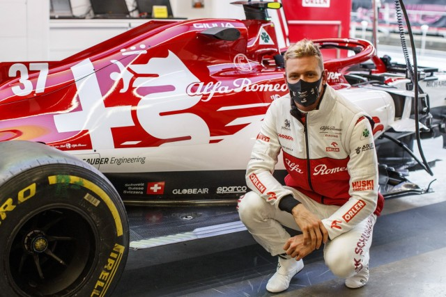 SCHUMACHER Mick (ger), Alfa Romeo Racing ORLEN C39, portrait during the Formula 1 Aramco Grosser Preis Der Eifel 2020,