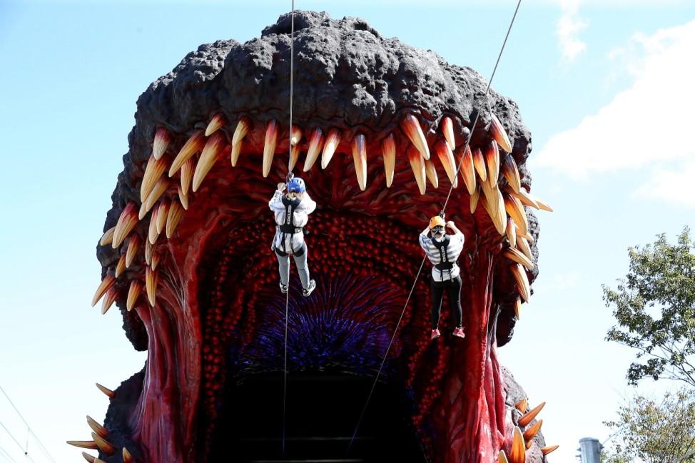 Japanese Theme Park Unveils 'Life-size' Godzilla