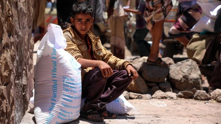 Welthunger-Index: Im Kriegsland Jemen versorgt das World Food Programme der Vereinten Nationen die Bevölkerung mit Lebensmitteln.