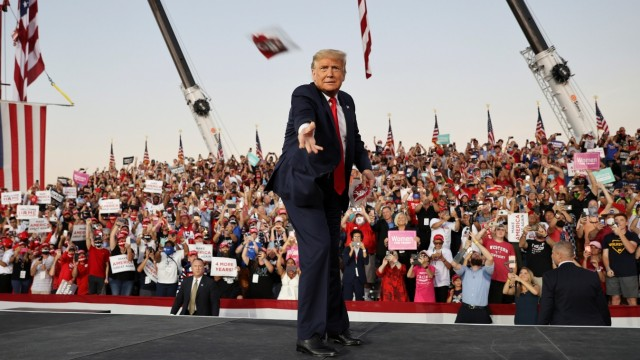 U.S. President Donald Trump holds a campaign rally in Sanford, Florida