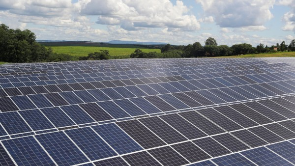FILE PHOTO: A photovoltaic solar panel farm is seen in Porto Feliz, Sao Paulo state