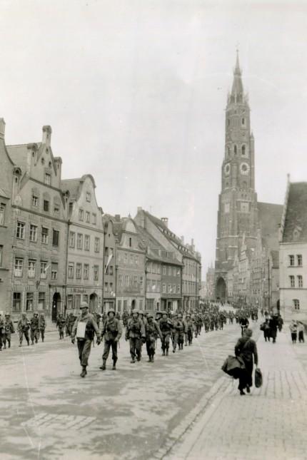 Geschichte: US-Truppen in Landshut am 1. Mai 1945.