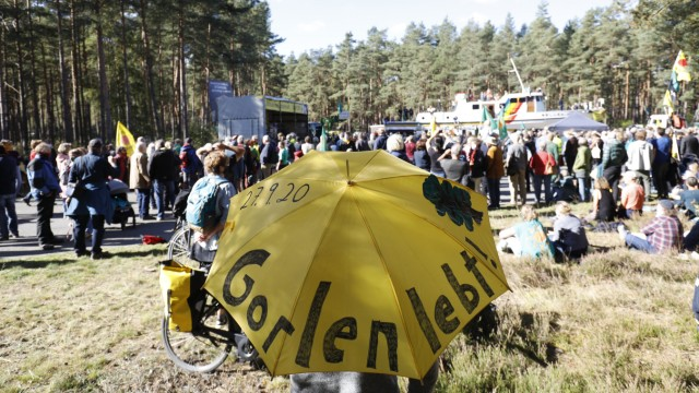 Protesters Demonstrate At Gorleben Nuclear Waste Storage Site
