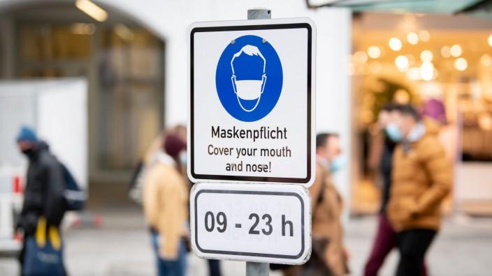 Coronavirus - Maskenpflicht in München