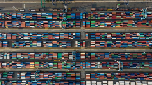 Operations at Busan Port Terminal As Virus Grip on Economy Eases