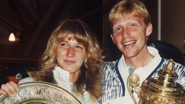 Wimbledon-Sieger 1989 Graf und Becker