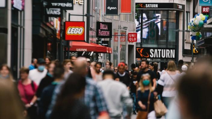 Köln, Einkaufen, Shopping, Deutschland maske