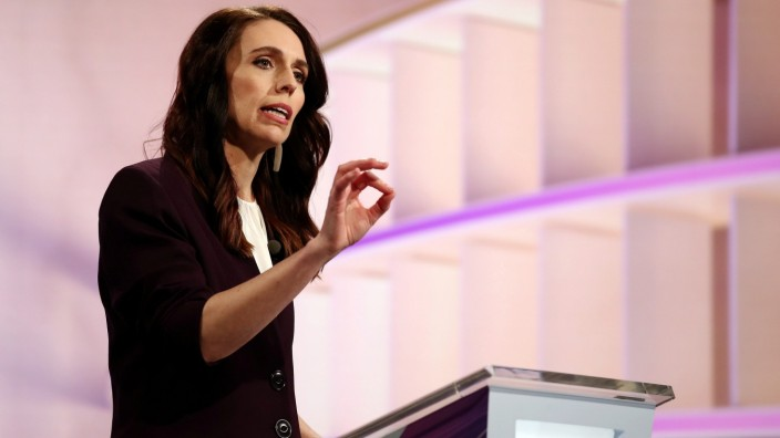 FILE PHOTO: FILE PHOTO: New Zealand Prime Minister Ardern participates in a debate in Auckland