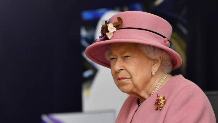 Britain's Queen Elizabeth visits Dstl near Salisbury