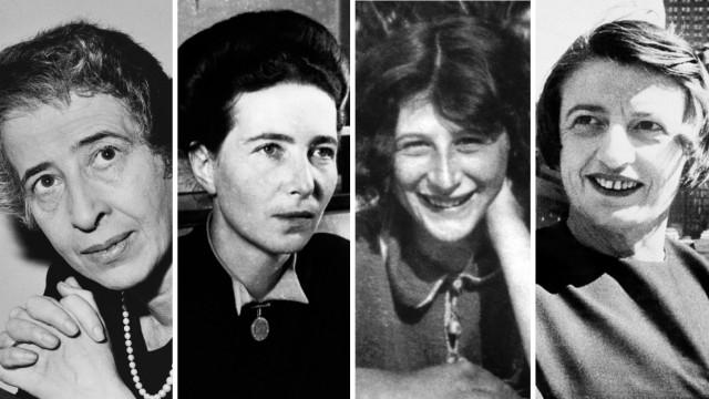 Hannah Arendt, Simone de Beauvoir, Simone Weil  und Ayn Rand