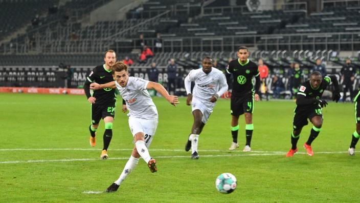 xnjx 17.10.2020; Mönchengladbach; 1. Fussball-Bundesliga; Borussia Moenchengladbach vs. VfL Wolfsburg Tor zum 1-0; Jonas