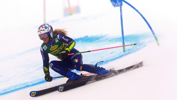 SOELDEN, AUSTRIA. OCTOBER 17 2020: 1st Women s Giant Slalom as part of the Alpine Ski World Cup in Solden on October 17
