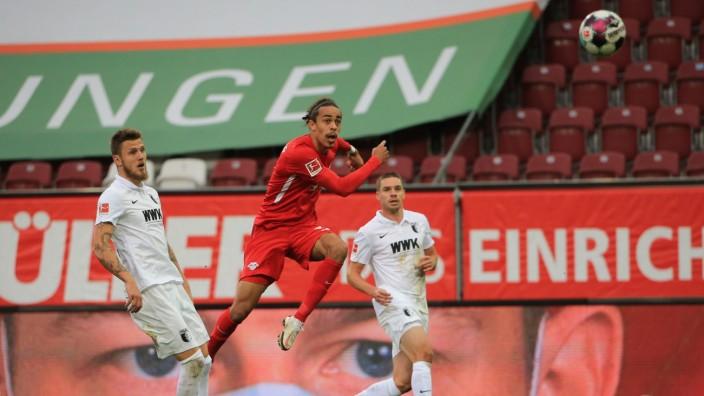 17.10.2020, 1.Bundesliga, FC Augsburg vs Red Bull Leipzig, WWK Arena Augsburg, Fussball, im Bild: das 0:2 Traum Tor dur