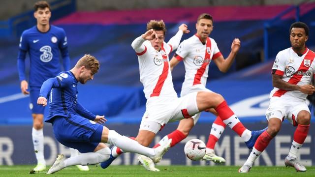 Chelsea v Southampton - Premier League - Stamford Bridge Timo Werner scores for Chelsea during the Premier League match