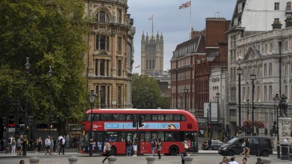 Straßenszene in London