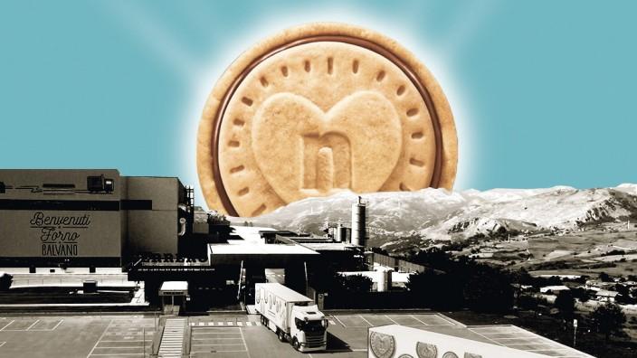Nutella Biscuits von Ferrero; Text von ike