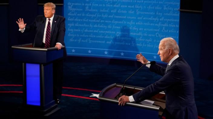 US-Wahl 2020: Donald Trump und Joe Biden im ersten TV-Duell