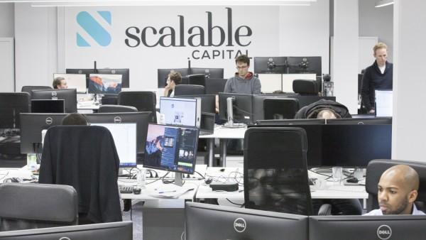 Büroräume von Scalable Capital in München, 2017
