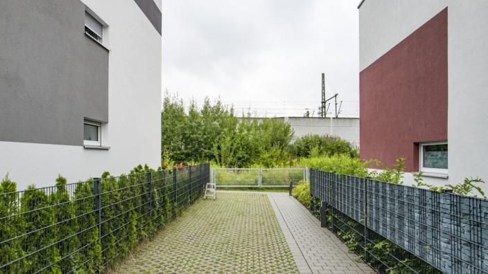 Blick auf geplante Bahntrasse in München, 2019