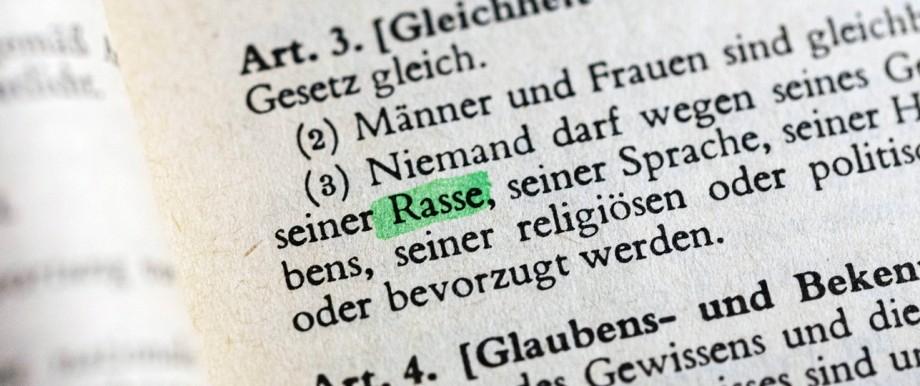 Der Begriff Rasse im Grundgesetz Aktuell wird auf politischer Ebene über den Begriff Rasse in Artikel 3 im Grundgesetz d