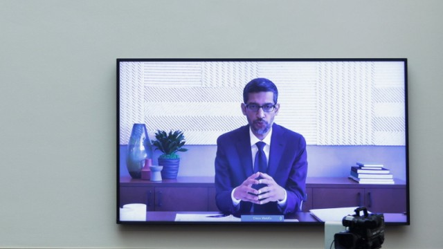 July 29, 2020, Washington, District of Columbia, USA: Google CEO Sundar Pichai speaks via video conference during an Ant