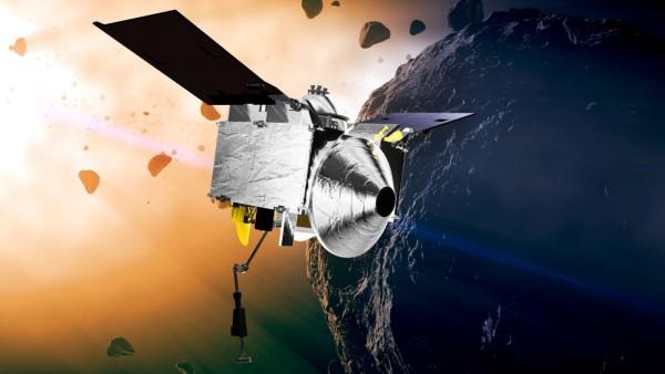 Sonde OSIRIS-REx nimmt Proben vom Asteroiden Bennu