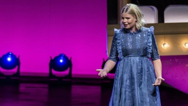 Sofie Linde og Joachim ved ZULU Comedy Galla 2020 der afholdes i Operaen i Koebenhavn, onsdag den 26. august 2020. , ***