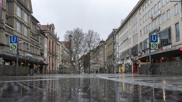Leere Straßen und Plätze in München in Zeiten der Corona-Krise, 2020