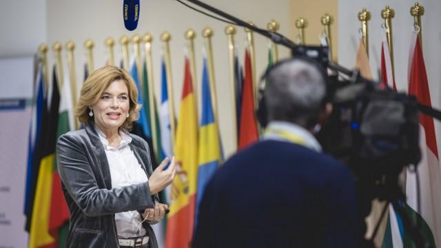 Bundeslandwirtschaftsministerin Julia Kloeckner (CDU) im Rahmen des EU-Agrarrats in Luxemburg, 20.10.2020. Luxembourg Lu