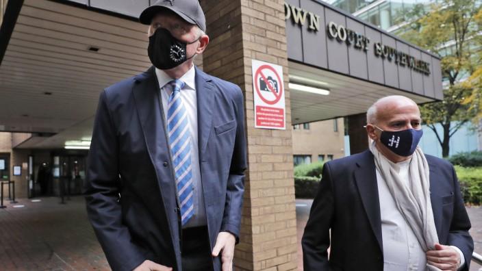 Boris Becker vor einem Gericht in London im Oktober 2020