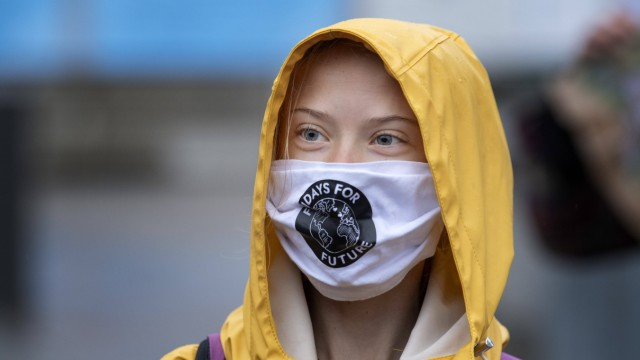 Swedish climate activist Greta Thunberg fronts a Fridays For Future protest at the Swedish Parliament (Riksdagen) in St