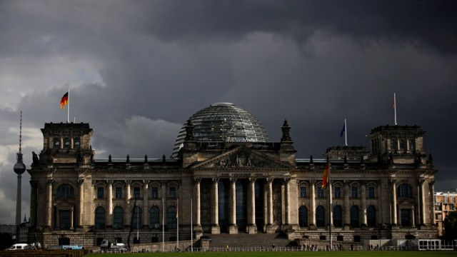 View of the Reichstag building in Berlin