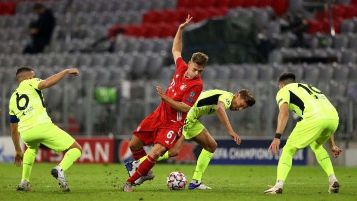 FC Bayern: Joshua Kimmich in der Champions League 2020/21 gegen Atlético Madrid