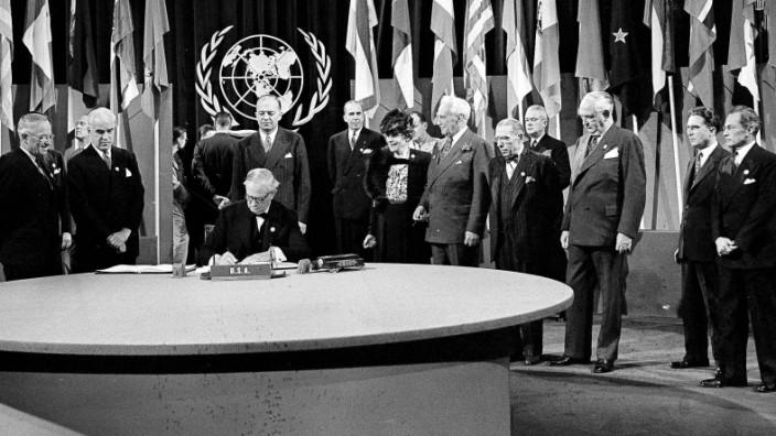 UN Charta Jubiläum Truman