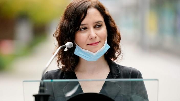Spanien: Madrids Regionalpräsidentin Isabel Diaz Ayuso