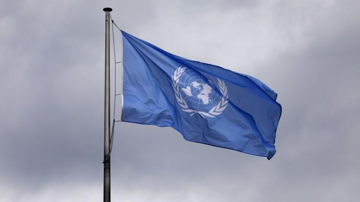 UN-Flagge am World Conference Center Bonn. Bonn, 01.06.2019 *** UN Flag at the World Conference Center Bonn Bonn, 01 06