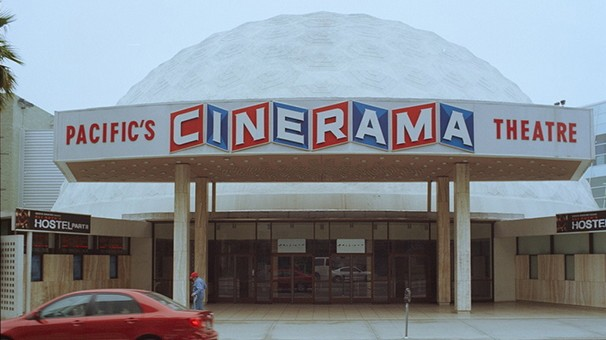 Cineramadome on Sunset Boulevard photographed by Ed Ruscha in 1973, 1990, and 2007