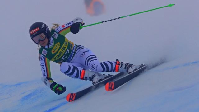 SOELDEN, AUSTRIA. OCTOBER 17 2020: 1st Women s Giant Slalom as part of the Alpine Ski World Cup in Solden on October 17