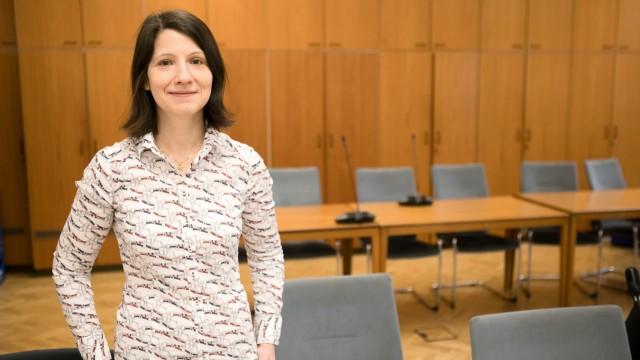 Anne Hübner im Rathaus in München 2019