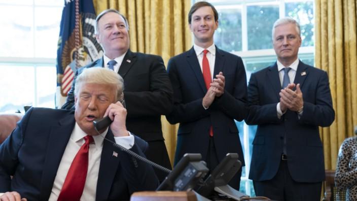US-Präsident Trump in Telefonkonferenz mit Israel und dem Sudan