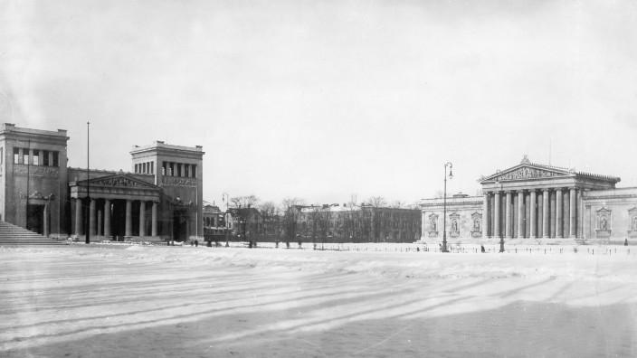 Blick auf den Königsplatz in München, vor 1914
