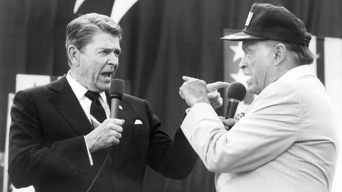 Ronald Reagan und Bob Hope, 1987