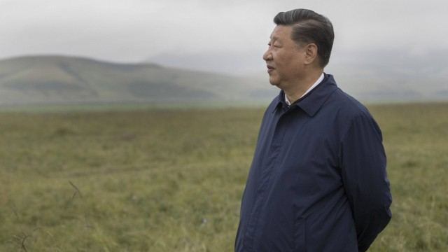 190821 ZHANGYE Aug 21 2019 Chinese President Xi Jinping also general secretary of the Co