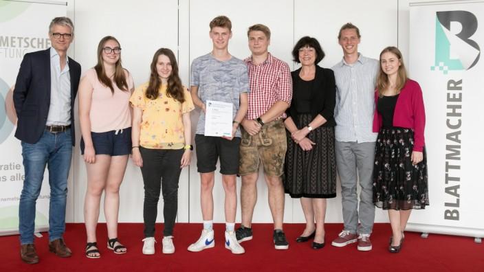 Siegerehrung  Schülerzeitungswettbewerb SZ Hochhaus 1. Stock
