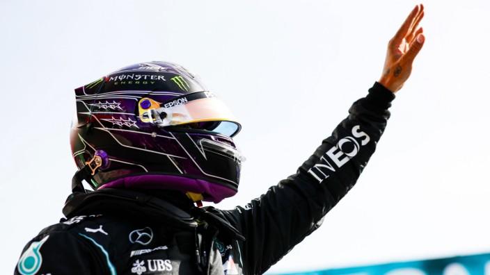 2020 Portuguese GP ALGARVE INTERNATIONAL CIRCUIT, PORTUGAL - OCTOBER 24: Pole man Lewis Hamilton, Mercedes-AMG Petronas