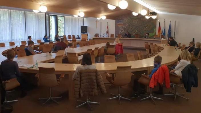 Gespräch im Landratsamt mit besorgten Eltern, Maskenpflicht für Grundschüler
